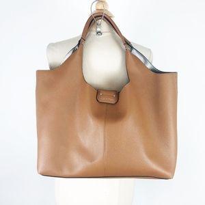 Calvin Klein Cognac Brown Large Shopper Tote Purse